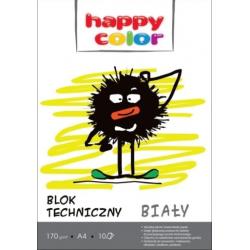 Blok techniczny A4 Happy Color- biały, 10k