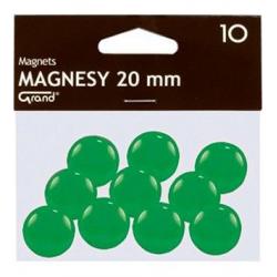 Magnesy 20mm Grand- zielone, 10szt.