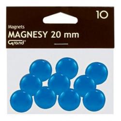 Magnesy 20mm Grand- niebieskie, 10szt.