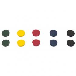 Magnesy 20mm PBS BI-OFFICE- mix kolorów, 10szt.
