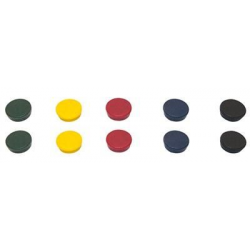 Magnesy 30mm PBS BI-OFFICE- mix kolorów, 10szt.