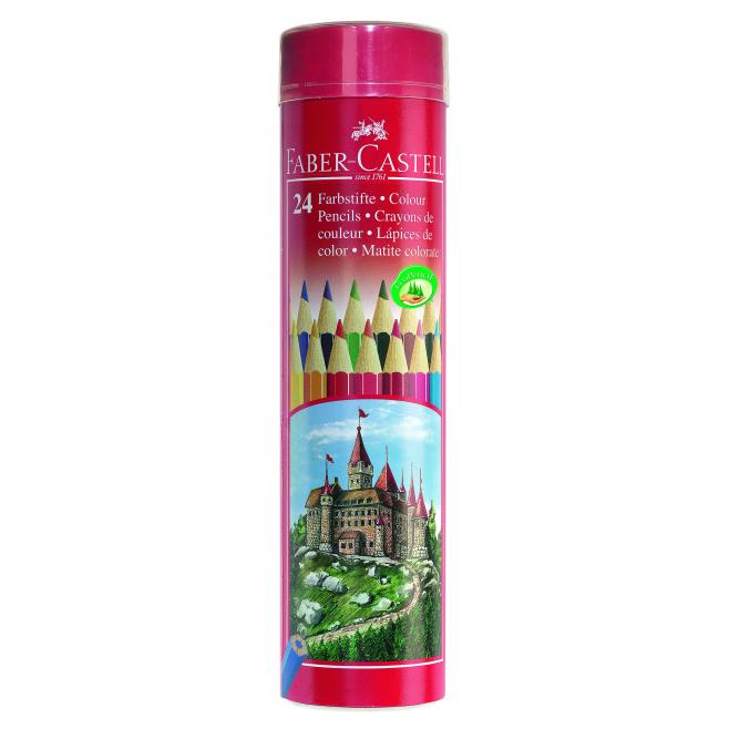 Kredki ołówkowe ZAMEK - 24 kolory / oklejona tuba / wyprzedaż