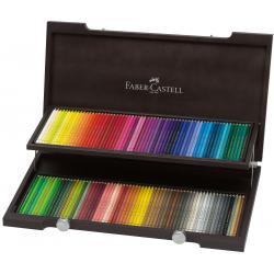 Kredki ołówkowe Faber-Castell Polychromos - 120 kolorów/ drewniana kaseta