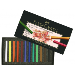 Pastele suche Polychromos Faber-Castell - 12 kolorów