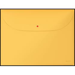 Teczka kopertowa Leitz Cosy z 2 przegródkami - żółta