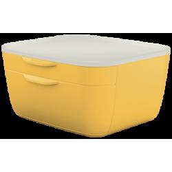 Pojemnik z szufladami Leitz Cosy - żółty