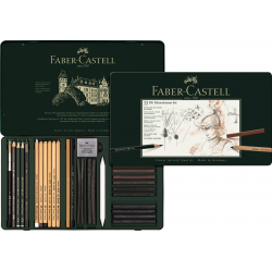 Zestaw ołówków i grafitów Faber - Catsell PITT MONOCHROME
