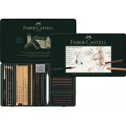 Zestaw ołówków i grafitów Pitt Graphite Faber-Castell - 33 elementy