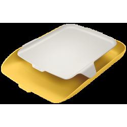 Półka na dokumenty Leitz Cosy z organizerem - żółta