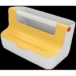 Pojemnik z uchwytem Leitz Cosy - żółty