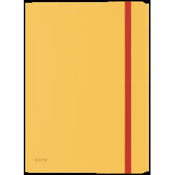 Teczka z gumką i kieszonką PP Leitz Cosy - żółty