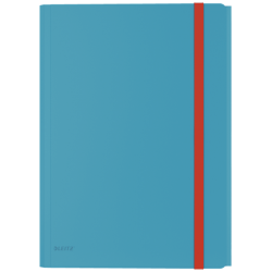 Teczka z gumką i kieszonką PP Leitz Cosy - niebieska