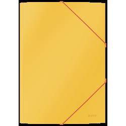 Teczka kartonowa z gumką Leitz Cosy A4 - żółta