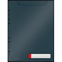Obwoluta z folii Leitz Cosy A4 o zwiększonej pojemności - szara