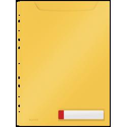 Obwoluta z folii Leitz Cosy A4 o zwiększonej pojemności - żółta