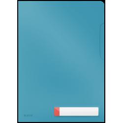 Obwoluta z folii Leitz Cosy A4 z kieszonką na etykietę - niebieska