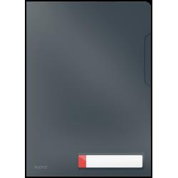 Obwoluta z folii Leitz Cosy A4 z kieszonką na etykietę - szary