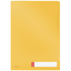 Obwoluta z folii Leitz Cosy A4 z kieszonką na etykietę - żółty