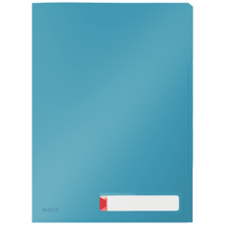Obwoluta z folii Leitz Cosy A4 z 3 przegródkami - niebieska