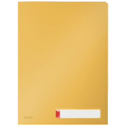 Obwoluta z folii Leitz Cosy A4 z 3 przegródkami - żółta