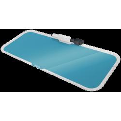 Szklany notatnik na biuro Leitz Cosy poziomy - niebieski