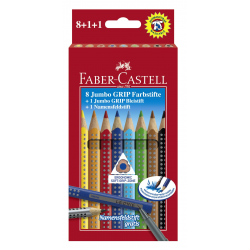 Kredki JUMBO GRIP 8 kolorów + ołówek JUMBO + pisak do kredek