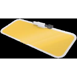 Szklany notatnik na biuro Leitz Cosy poziomy - żółty