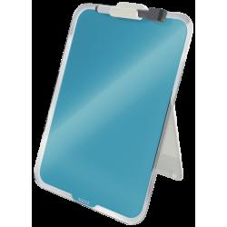 Szklana tabliczka na biurko Leitz Cosy - niebieska