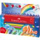 Kredki ołówkowe Faber Castell Jumbo Grip Ocean World - 8 kolorów + akcesoria