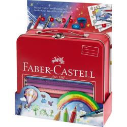 Kredki ołówkowe Faber Castell Jumbo Grip Balloon - 18 kolorów + akcesoria