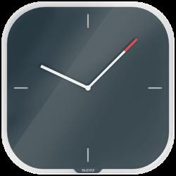 Zegar ścienny Leitz Cosy kwadratowy - szary