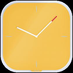 Zegar ścienny Leitz Cosy kwadratowy - żółty