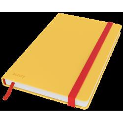 Notatnik Leitz Cosy w kratkę, oprawa twarda - żółty