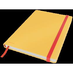 Notatnik Leitz Cosy B5 w kratkę, oprawa twarda - żółty