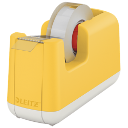 Podajnik do taśmy klejącej Leitz Cosy - zółta