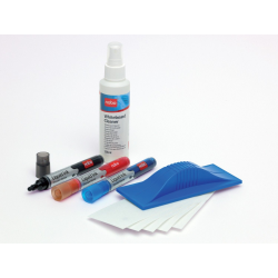 Zestaw akcesoriów Nobo do tablic suchościeralnych/3 markery, spray, gąbka