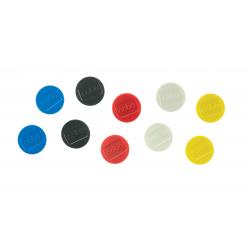 Magnesy Nobo do tablic magnetycznych 32mm - mix kolorów - 10 szt