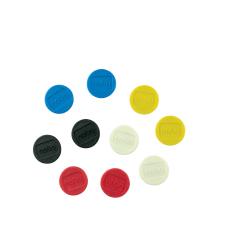 Magnesy Nobo do tablic magnetycznych 13mm - mix kolorów - 10 szt