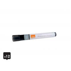 Markery suchościeralne Nobo Liguid Ink, czarne/ 12szt.