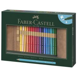 Kredki akwarelowe Albrecht Dürer Faber-Castell - 30 kolorów + rolowany piórnik