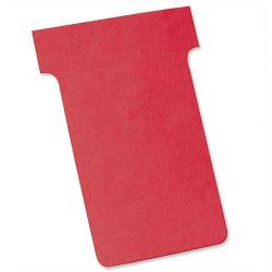 Karteczki T-Card Nobo, rozmiar 2 czerwone/100szt.
