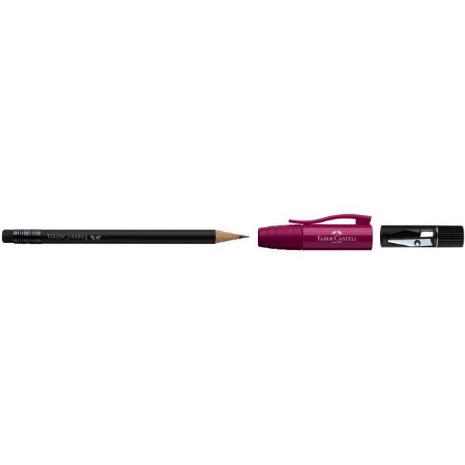 Ołówek grafitowy PERFECT II - B - malinowy