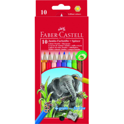 Kredki JUMBO - 10 kolorów + temperówka