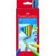 Kredki ołówkowe Faber-Castell JUMBO - 10 kolorów + temperówka