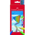 Kredki JUMBO - 20 kolorów + temperówka