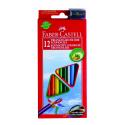 Kredki ołówkowe ECO - 12 kolorów + temperówka