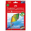Kredki ołówkowe EKO - 36 kolorów + temperówka