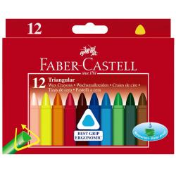 Kredki świecowe trójkątne - 12 kolorów