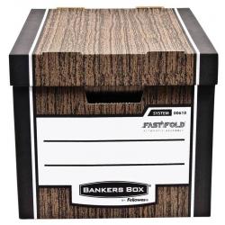 Pudło archiwizacyjne Fellowes Banker Box Woodgrain  - brązowe/2szt.
