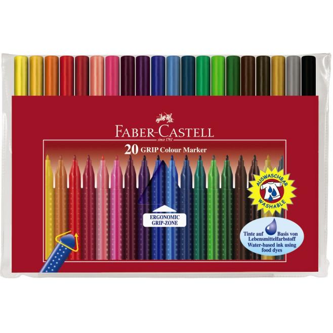 Pisaki GRIP - 20 kolorów
